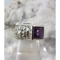 Amethyst Fancy Band Ring