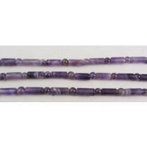 Amethyst Cylinder and Sphere Mixed Beads