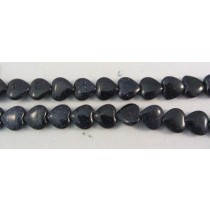 Blue Goldstone Heart Shaped Beads