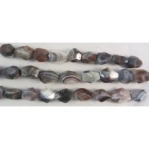 Botswana Agate Fully Faceted Grade A Beads