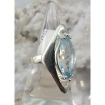 Blue Topaz Long Oval Ring