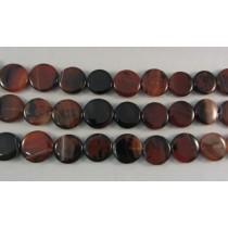 Carnelian Agate Flat Disc Beads