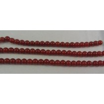 Carnelian Agate Round Beads