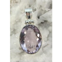 Amethyst Cushion Cut Large Pendant