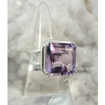 Amethyst Prong Set Ring