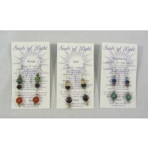 Zodiac Gemstone Earrings