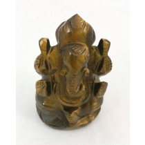 Ganesh Carving in Tiger Eye