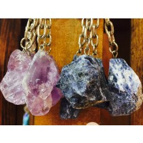 Raw Stone Key Chains