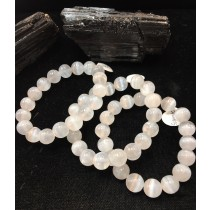 Selenite Stretch Bracelet 10mm Round