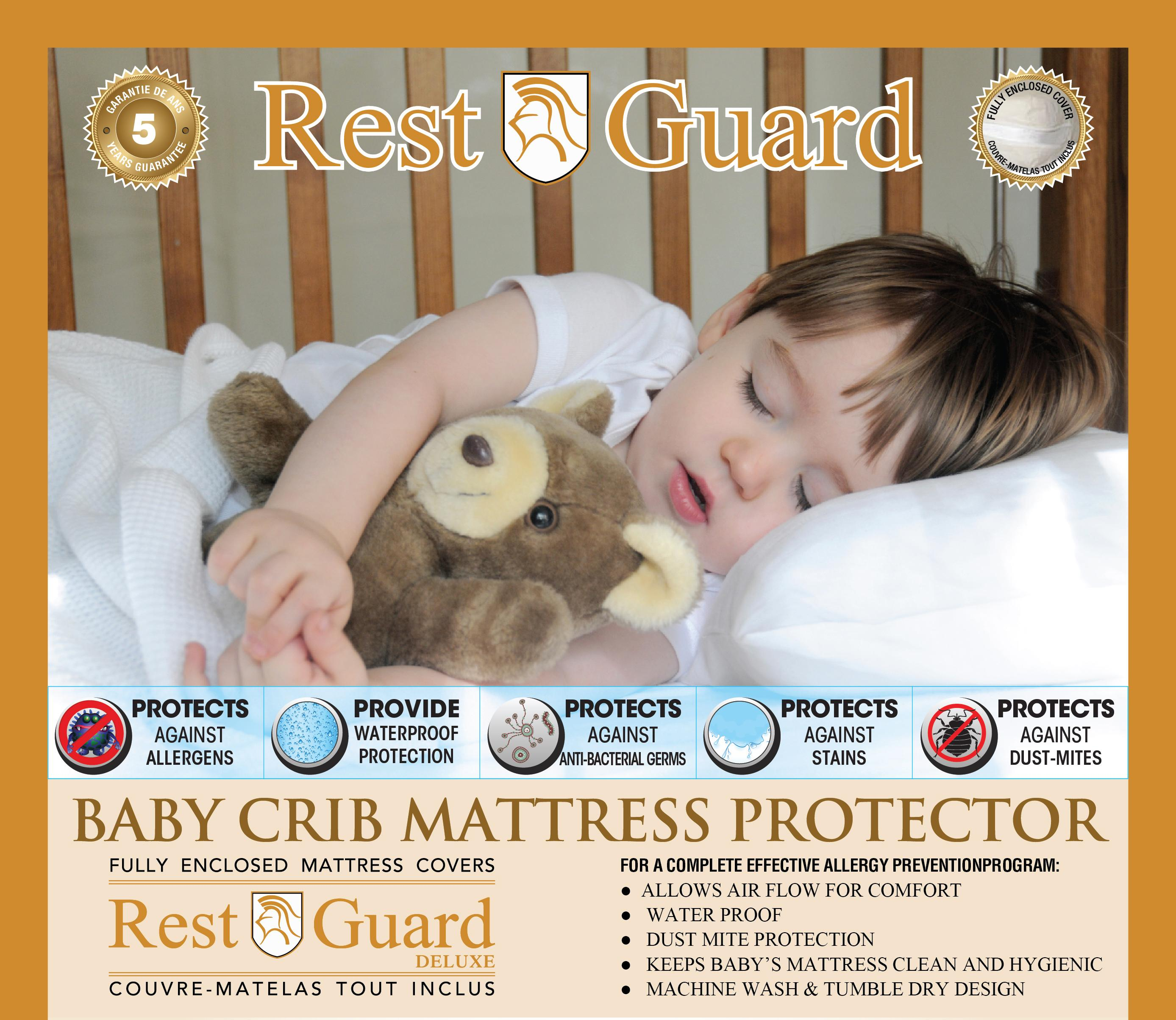 The Best Crib Mattress Protector by Primary Comfort - All Natural .