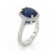 AFS-0032 Vintage Diamond Engagement Ring with Halo