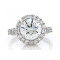 AFS-0066 Vintage Diamond Engagement Ring with Halo