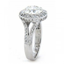 AFS-0069 Vintage Diamond Engagement Ring with Halo