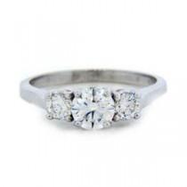 AFS-0112 Three Stone Diamond Engagement Ring