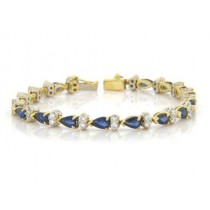 BR926 Diamond and Sapphire Bracelet