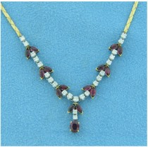 CH518 Diamond and Ruby Necklace