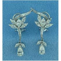 E1007 Diamond Drop Earrings