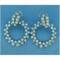 E1098 Diamond Drop Earrings