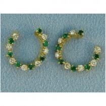 E1138 Diamond and Emerald Earrings