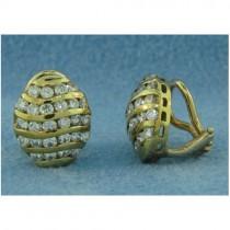 E1172 Diamond Button Earrings