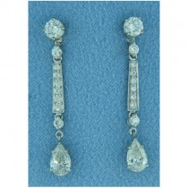 E1187 Diamond Drop Earrings