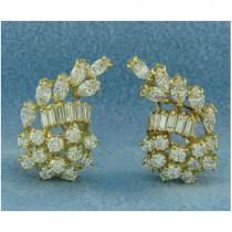 E1191 Diamond Cluster Earrings