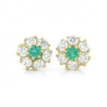 E1224 Diamond and Emerald Earrings