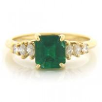 FS3337 Diamond and Emerald Ring