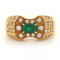 FS3341 Diamond and Emerald Ring