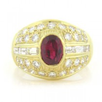 FS3497 Diamond and Ruby Ring