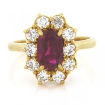 FS3515 Diamond and Ruby Ring
