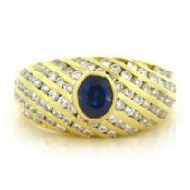 FS3528 Diamond and Sapphire Ring