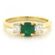 FS3561 Diamond and Emerald Ring
