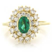 FS3580 Diamond and Emerald Ring