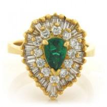 FS3590 Diamond and Emerald Ring