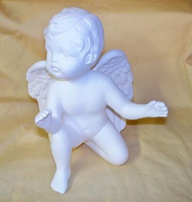 cherub on one knee