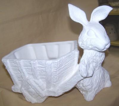 rabbit pulling wagon