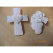 angel and cross ornaments