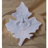 maple leaf with face