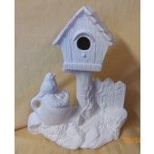 birdhouse and nest
