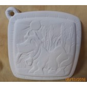Pot Holder 3 cow in pasture