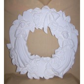angel wreath with roses