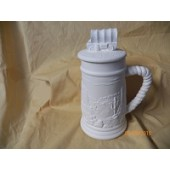 small stein with covered wagon