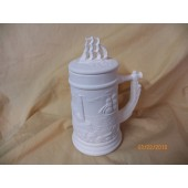 small stein with sailing ship