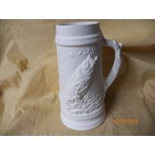 small tankard with fish