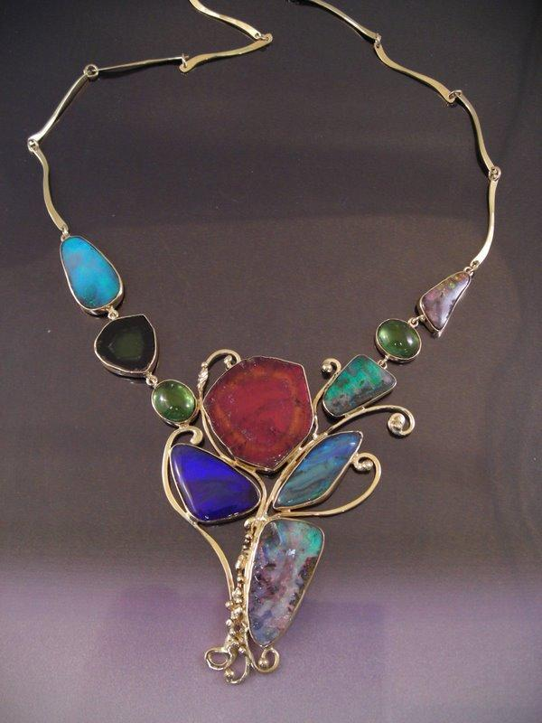 Tourmaline and Opal necklace