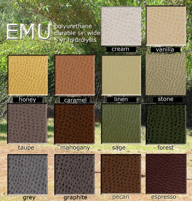 Emu Polyurethane Color Card