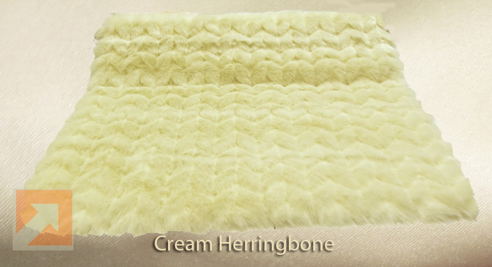 Cream Herringbone