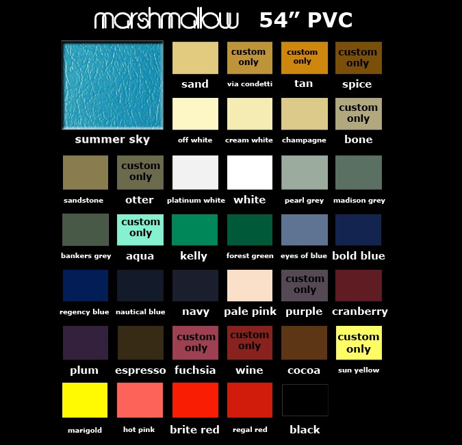 Marshmallow Color Card