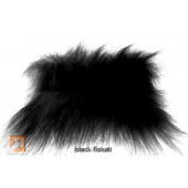 """Genuine Fake""tm Black Flokati Fur"